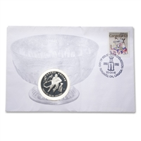 1993 $1 100th Anniversary of the Stanley Cup (1893-1993) Coin and Day of Issue Stamp Set