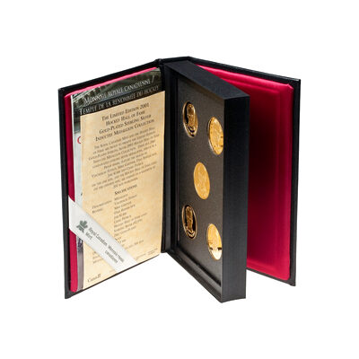 2001 Hockey Hall of Fame Inductee 24-kt Gold-Plated Medallion Collection