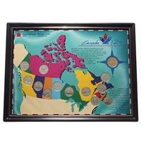 Framed 1992 'Canada 125' Provincial Quarter Board with Dollar