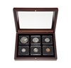 1967 Uncirculated Coin Set in Custom Mahogany Display Case