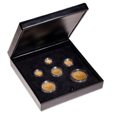 1979-2004 25th Anniversary Gold Maple Leaf 6-Coin Set - An Era of Triumph