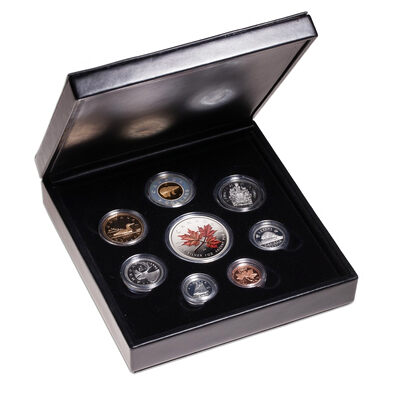 2001 Premium Edition Proof Set with Coloured Maple Leaf (Discounted)