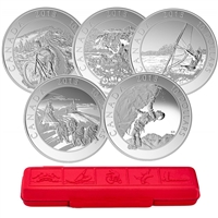2015 $10 Adventure Canada - Pure Silver 5-Coin Set