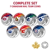 2015 NHL Pure Silver 7-Coin Set