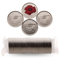 2015 25c Mixed Coin Roll - Poppy