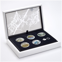 2016 $20 Fine Silver Subscription Set - Landscape Illusions Series (5 Coins + Display Case)