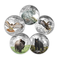 2016 $20 Majestic Animals II - Pure Silver 5 Coin Set