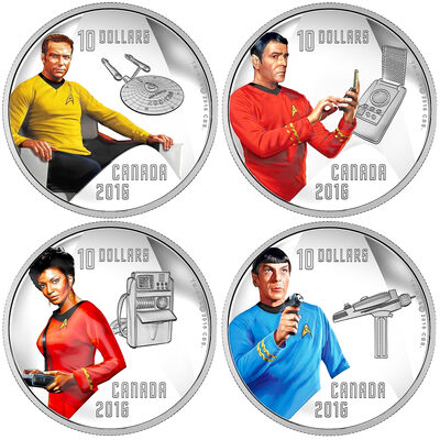 2016 $10 Fine Silver Subscription Set - Star Trek