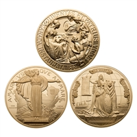 1867, 1927 and 2017 Confederation Medal - Pure Gold 3 Piece Set