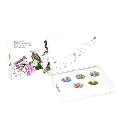 2017 $10 Birds Among Nature's Colours - 5 Coin Pure Silver Set