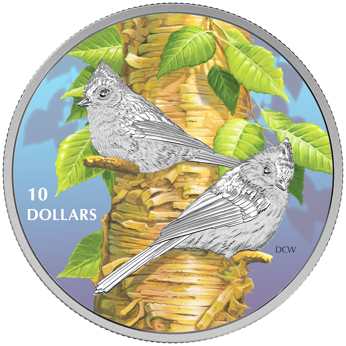 2017 Birds Among Nature's Colours $10 PureSilver Proof Coin Canada Purple Martin