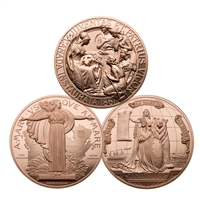 1867, 1927, 2017 Confederation Medal Re-strike - 3 Piece Bronze Set
