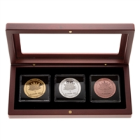 2017 Canada 150 Logo Medal - 3 Piece Pure Silver and Gold Collection with Bonus Bronze Piece