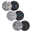 2017 $15 In The Eyes - 3-Coin Pure Silver Subscription Set with Bonus Black Light