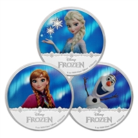 2016 $2 Disney Frozen: Magic of the Northern Lights Collection 3-Coin Set