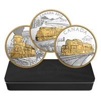 2017 $20 Locomotives Across Canada - 3 Coin Pure Silver Set with Subscription Box