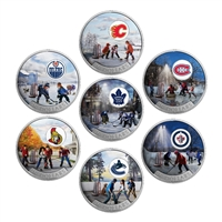 2017 $10 NHL Passion to Play - Pure Silver 7-Coin Set