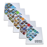 Coins of the World: Oceania - 5 Piece Set in Presentation Albums