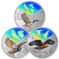 2019 Silver $30 Majestic Birds in Motion (01) Canada Geese IN SUB CASE