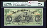The Dominion Bank $10 1925 Austin r. PMG VF-25