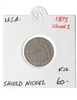 US 5C 1873 Shield Nickel F-12