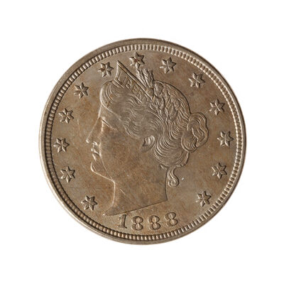 US 5C 1888 Closed 3; Liberty VF-30