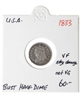 US Half Dime 1833 Capped Bust VF-20