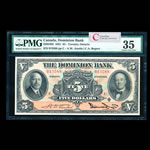 The Dominion Bank $5 1931 Bogert, r. PMG VF-35