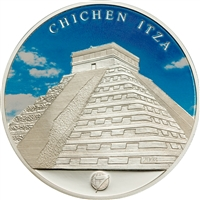 2008 500 Togrog The New 7 Wonders: Chichen Itza (Mongolia) - Sterling Silver Coin