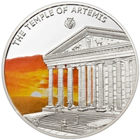 2009 $5 Antique 7 Wonders of the World: The Temple of Artemis (Palau) - Sterling Silver Coin