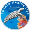 2010 $1 Marine Life: Turtle - Sterling Silver Coin