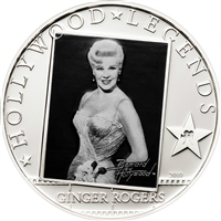 2010 $5 Hollywood Legends I: Ginger Rogers - Sterling Silver Coin