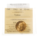 5 cent 1942 Tombac ICCS MS-64