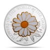 2011 $5 World of Flowers: The Daisy (Cook Islands) - Pure Silver Coin