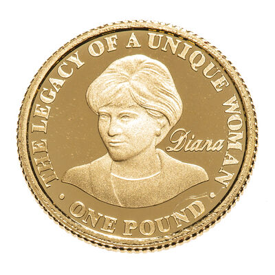 Alderney fine gold 2007 -  1 Pound Elizabeth II Princess Diana, 10th Anniversary of Death Proof