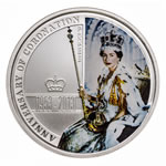 Australia 2013 1 Dollar Fine Silver Proof - 60th Anniversary Coronation Silver Proof