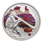 Australia 2013 1 Dollar Fine Silver Proof Coin - The Land Down Under - Didgeridoo