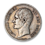 Belgium 5 Francs 1851 Dot above date VF-20