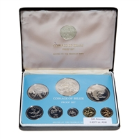 Belize 1975 10 Dollars Proof Set