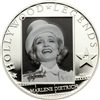 2012 $5 Hollywood Legends III: Marlene Dietrich - Sterling Silver Coin