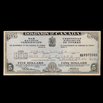 Canada 1943 -  5 Dollars War Saving Certificate Dominion of Canada, dated 15-11-43 Lucien Jobin