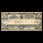 Canada 1942 -  5 Dollars War Saving Certificate Dominion of Canada, dated 15-4-42 David Grant Evans