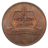 Canada 1986 -  Molson Brewery Token 200 years and counting MS-60