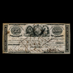 Canada 1850 -  100 Dollars Brockville County Debenture Rawdon, Wright, Hatch & Edson, New York EF-40