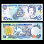 Cayman Islands 1 Dollar 1996 Elizabeth II Prefix: C/1 AU-55