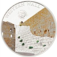 2012 $5 World of Wonders: Western Wall - Sterling Silver Coin
