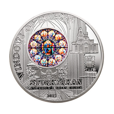 Cook Islands silver 2015 -  10 Dollars Windows of Heaven - Stockholm .925 Fineness
