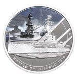 Cook Islands fine silver 2010 -  1 Dollar Elizabeth II Battle of Jutland Famous Naval Battles