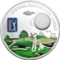 2012 $5 PGA Tour: Golf Ball - Sterling Silver Coin