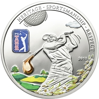 2013 $5 PGA Tour: Golf Club - Sterling Silver Coin